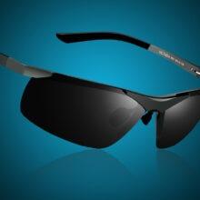 Męskie Okulary bez oprawek z Polaryzacją Dart