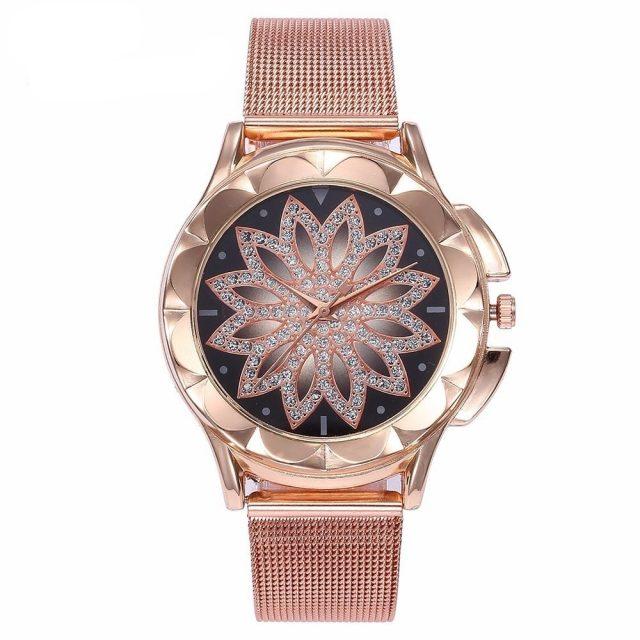 Zegarek z kryształkami Magnolia