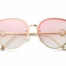 Umanco 2018 kobiety moda duże kwadratowe metalowe Cat okulary przeciwsłoneczne damskie męskie wielokolorowe okulary przeciwsłoneczne na zewnątrz podróży jazdy okulary