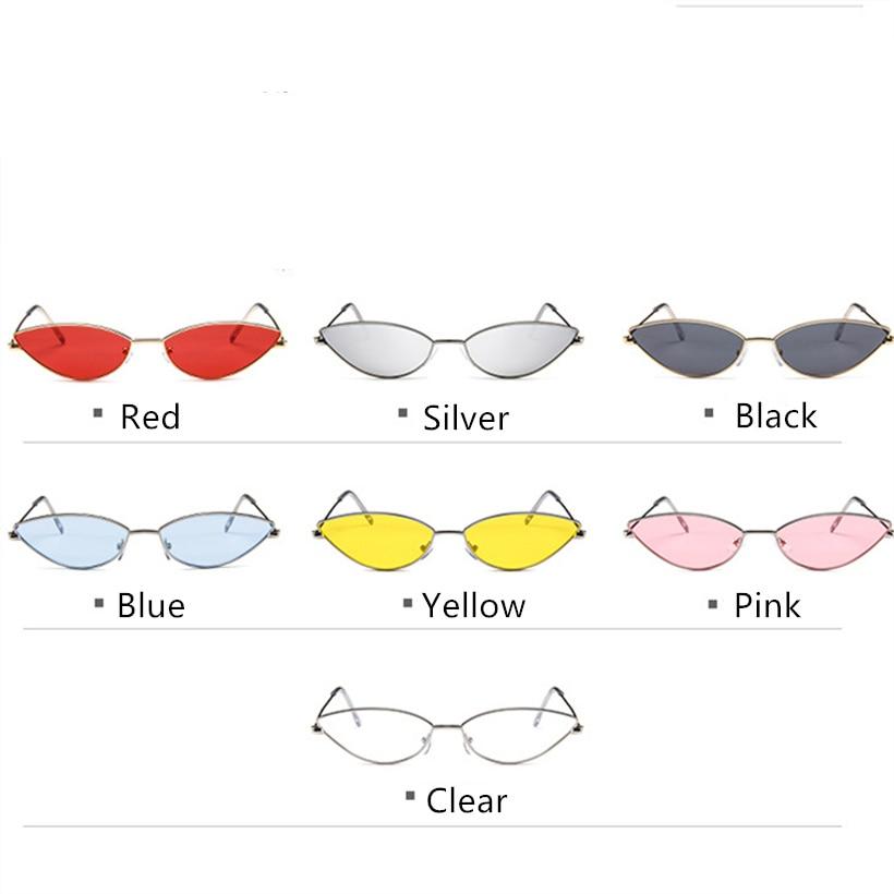 Metalowa rama kobiety Cat Eye okulary przeciwsłoneczne śliczne Sexy marka projektant lato Retro mała ramka czarny czerwony Cateye okulary przeciwsłoneczne UV400