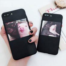 Lovebay etui silikonowe słodkie świnia etui na iPhone 11 Pro X XR XS Max 6 6s 7 8 Plus 5 5S etui na telefony SE miękka TPU tylna pokrywa dla iPhone 7