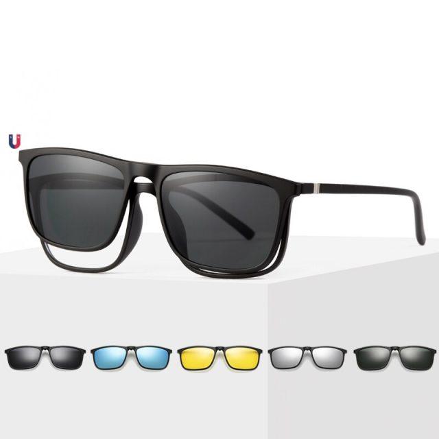 Magnetyczne Okulary Przeciwsłoneczne z nakładkami