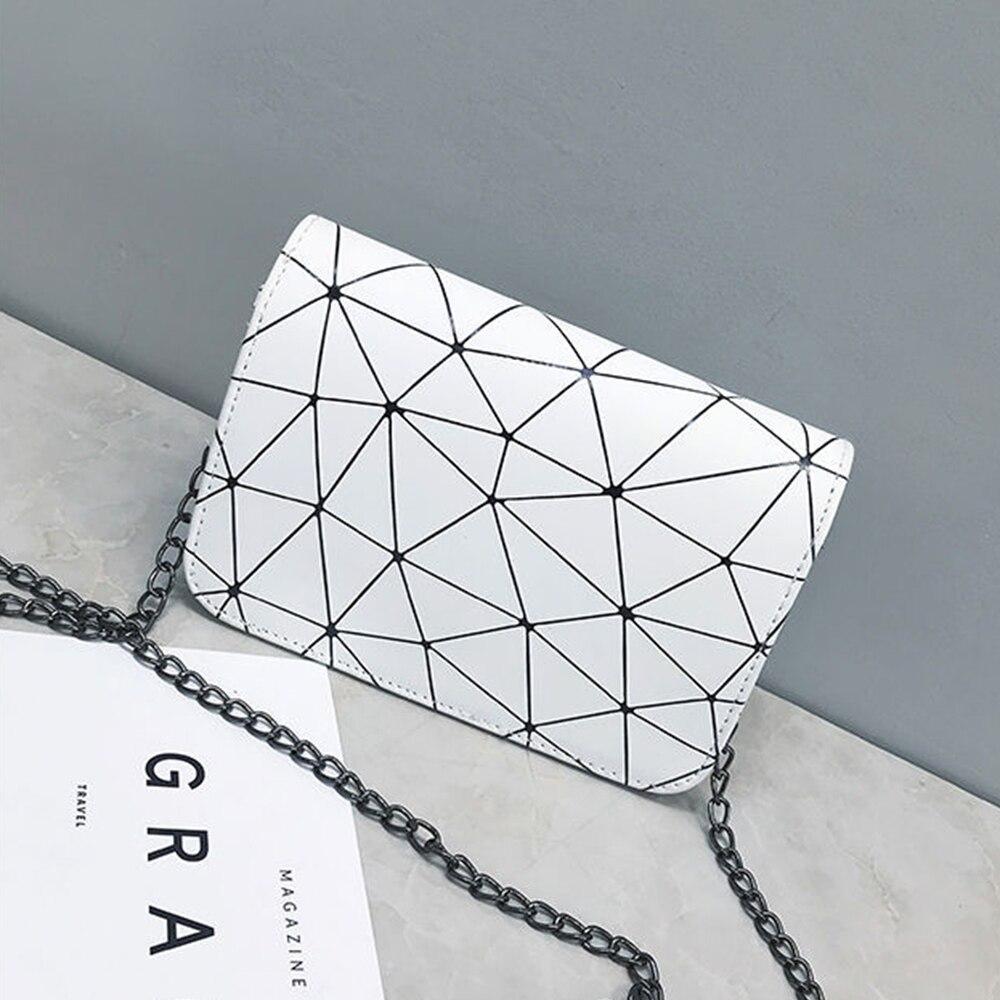 S.IKRR moda łańcuch Crossbody torby dla kobiet 2020 PU skóra luksusowe Dimond projekt Flap torba na ramię Mini torebki i torebki