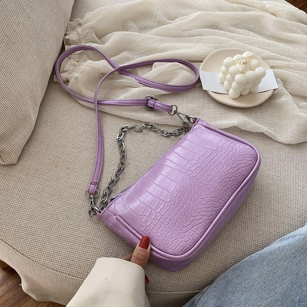 Moda Crocodile torebka z wzorem MINI PU skórzane torby na ramię dla kobiet 2020 projekt łańcucha luksusowe torebki damskie torby podróżne