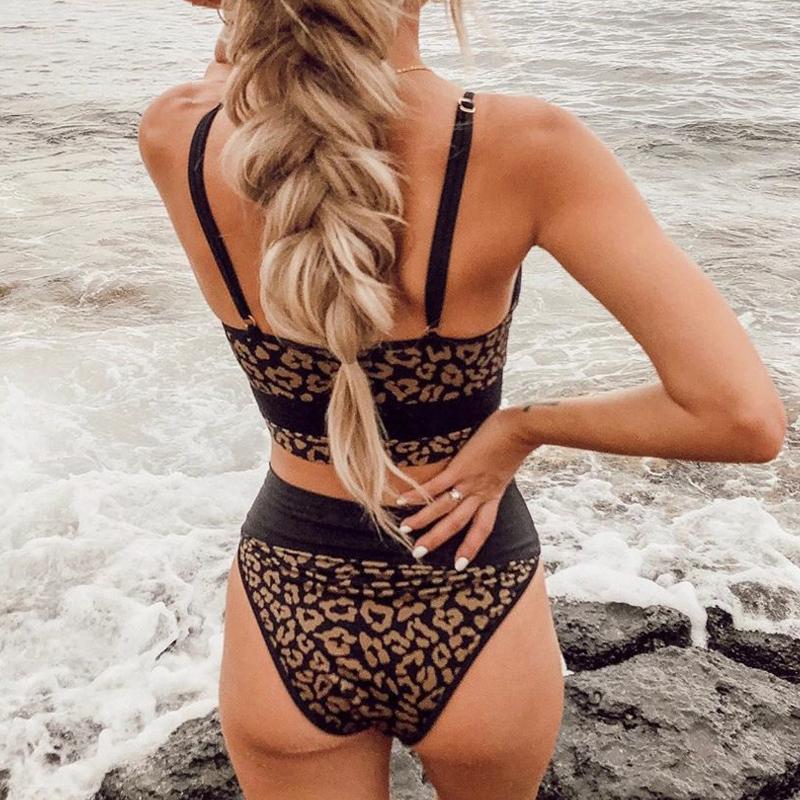 Dwuczęściowy strój kąpielowy wysokiej zwężone kostiumy kąpielowe kobiety Plus Size stroje kąpielowe dla dziewczyn Tankini stroje kąpielowe strój kąpielowy dla kobiet 2020