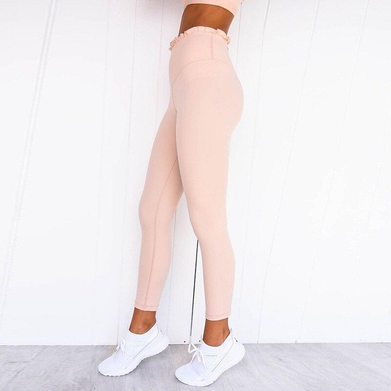 Kobiety zestaw do jogi Fitness dla kobiety dres Ruffles Sport garnitur Sexy odzież sportowa odzież do biegania odzież do biegania Tank Top legginsy, ZF222