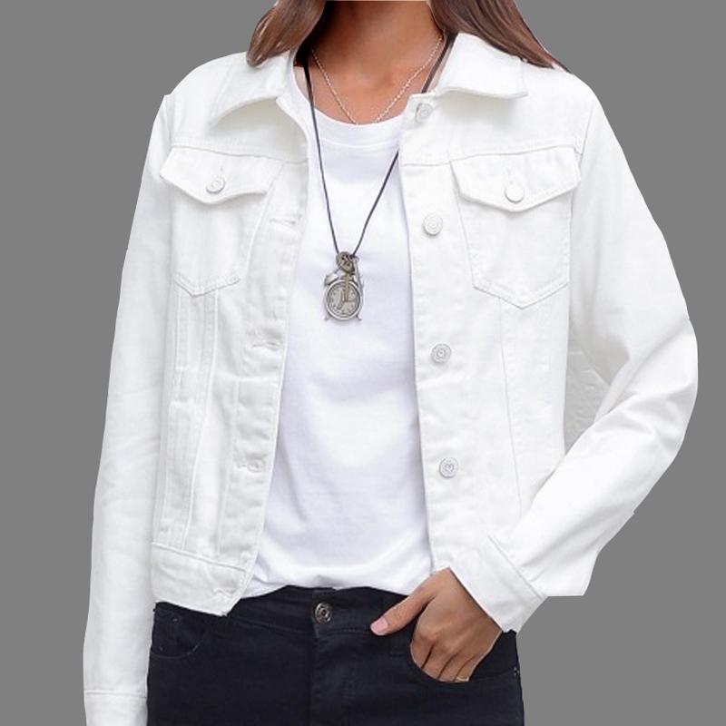 Dżinsowa kurtka i płaszcze dla kobiet 2019 jesień cukierki kolor dorywczo krótka kurtka dżinsowa Chaqueta Mujer Casaco Jaqueta Feminina