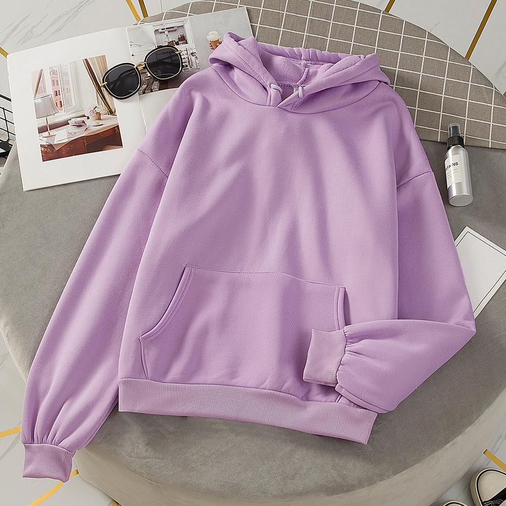 Duża, w stylu Harajuku bluzy jednokolorowe topy z kapturem kobiety mężczyźni bluza z długim rękawem zima Plus aksamitne pogrubienie płaszcz Streetwear