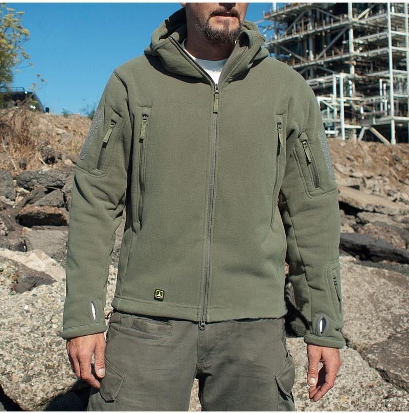 US wojskowy polar kurtka taktyczna mężczyźni Thermal Outdoors Polartec ciepła kurtka z kapturem Militar Softshell Hike odzież wierzchnia kurtki wojskowe