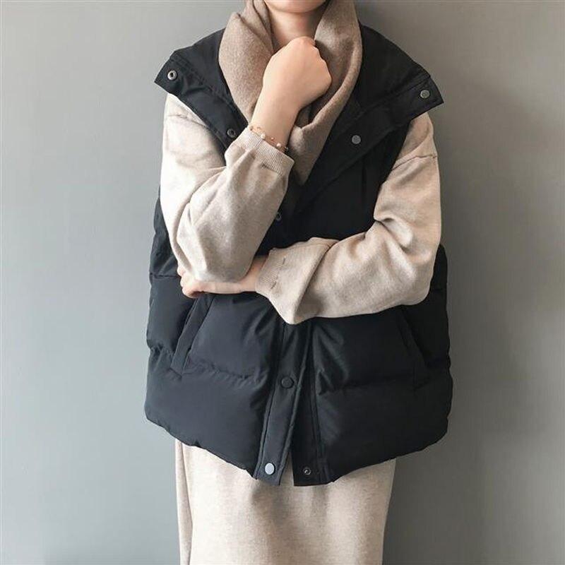 2020 kobiet kamizelka bez rękawów Winter Warm Plus rozmiar 2XL dół ocieplana kurtka z bawełny kobiet Veats stójka kamizelka bez rękawów