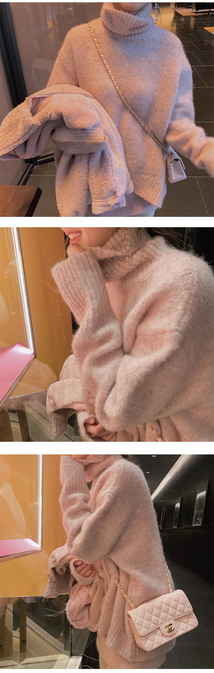 Syiwidii sweter z golfem kobiety koreańska bluzka moda 2020 swetry rękaw w kształcie skrzydła nietoperza plus rozmiar zimowe ubrania sweter z dzianiny kobiet