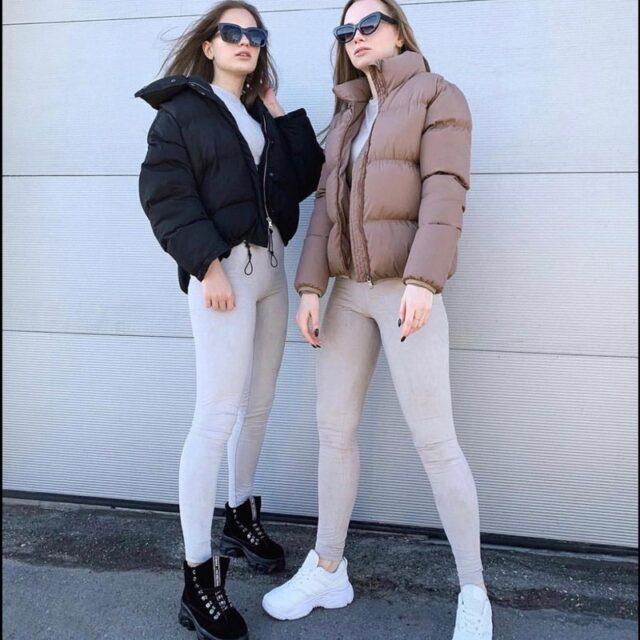 FORERUN Fashion warstwa bąbelkowa solidna standardowa obroża ponadgabarytowa krótka kurtka zimowa jesień żeńska kurtka pikowana Parkas Mujer 2020