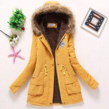 Fitaylor nowe zimowe ocieplane płaszcze damskie watowana kurtka bawełniana średniej długości parki gruby ciepły kaptur kołdra śnieżna odzież wierzchnia Abrigos
