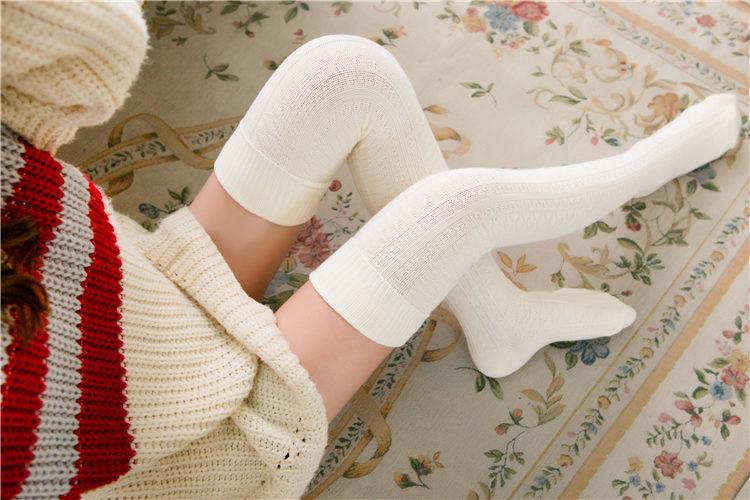 Podkolanówki damskie bawełniane zakolanówki na pończochy samonośne ciepłe długie pończochy damskie Sexy Medias winter 2018 woman