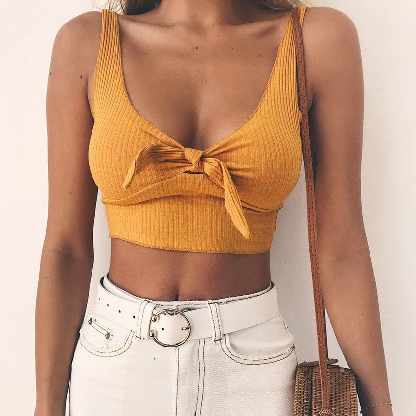 Bow Decorated Crop Top