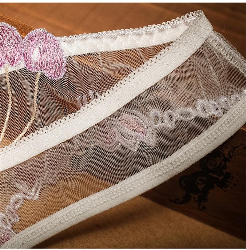 Top piwonia koronkowa bielizna damska przeźroczyste majtki damskie bezszwowe kalesony stringi biodrówki seksowna bielizna dla kobiet
