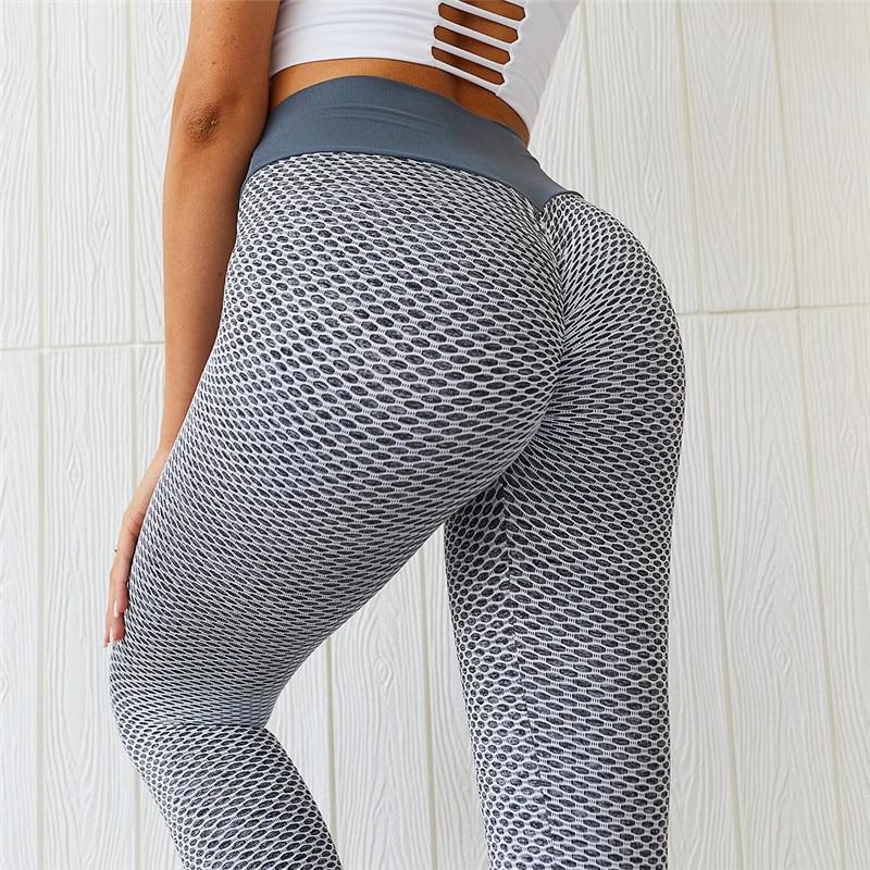 SVOKOR Dot kobiety legginsy wysokiej talii legginsy Fitness Push Up damskie bezszwowe spodnie do ćwiczeń kobiece legginsy Mujer poliester Casual