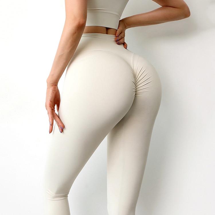 SOISOU nowe spodnie do jogi damskie legginsy do fitnessu nylonowe długie spodnie z wysokim stanem kobiety Hip Push UP rajstopy damskie odzież sportowa