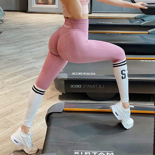 Paski alfabet kobieta legginsy bezszwowe spodnie jogi sportowe wysokiej talii pełnej długości legginsy treningowe dla fitness joga legginsy