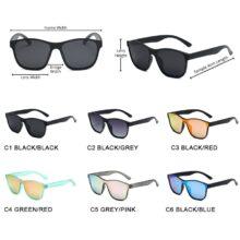 HOOBAN 2021 New Square Polarized Sunglasses Men Women Fashion Square Male Sun Glasses Brand Design One-piece Lens Eyewear UV400