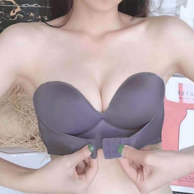 Przednie zapięcie seksowny biustonosz Push-Up kobiety niewidoczne biustonosze bielizna bielizna dla kobiet biustonosz bez ramiączek biustonosz bezszwowy miseczki ABC